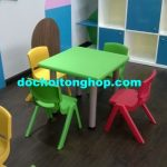 Bàn ghế mầm non giá rẻ tại TPHCM bằng nhựa PP