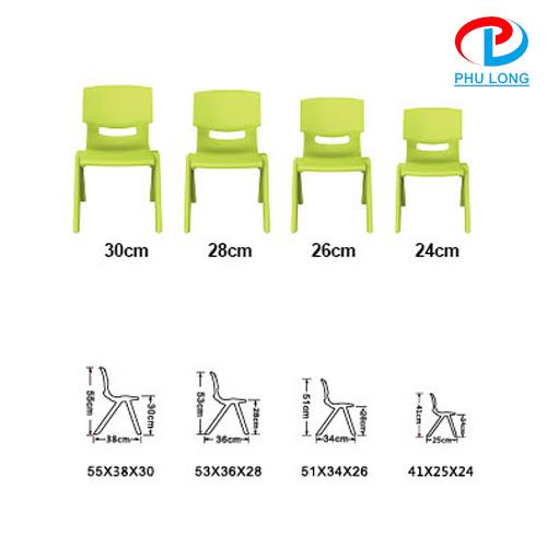 Kích thước ghế mẫu giáo
