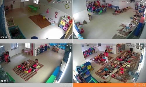lắp đặt camera giám sát cho trường mầm non