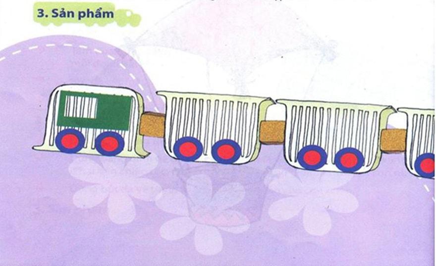 Làm đoàn tàu từ hộp sữa chua